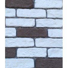 Искусственный камень Большой кирпич белый и шоколадный