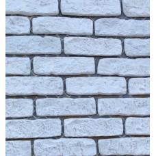 Искусственный камень Большой кирпич белый+серебро