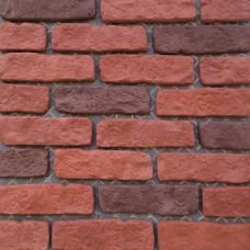 Искусственный камень Большой кирпич красный и бордовый