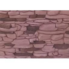 Искусственный камень Речной 11 бордовый