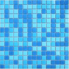 Мозаика МС107Р (327*327*4мм) голубая на бумаге