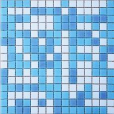 Мозаика МСD002Р (327*327*4мм) бело-голубой на бумаге