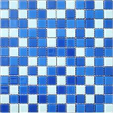 Мозаика CB021 (327*327*4мм) бело-синий