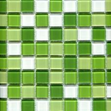 Мозаика CB606 (327*327*4мм) бело-зелёный микс