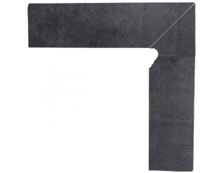 Bazalto Grafit Цоколь правый 2-х элем 30x8,1x1,1