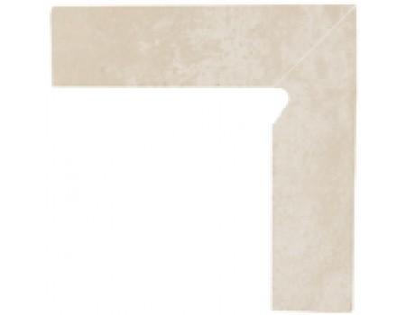 Cotto Crema Цоколь правый 2-х элем 30x8,1x1,1
