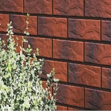 Термопанель фасадная с клинкерной плиткой Burgund 9584 Rustic/структурная с оттенком. Размер 890*610 мм