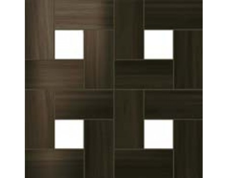Aston Wood Dark Oak Mosaic Lap 45*45 / Астон Вуд Дарк Оак Мозаика Лаппато 45*45