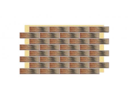 Термопанель фасадная с клинкерной плиткой Alaska 9652 Rustic/структурная. Размер 890*610 мм