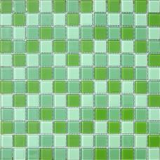 Мозаика CB011 (327*327*4мм) зеленый микс