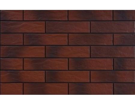 Burgund 9584 Фасадная плитка 24,5х6,5х0,65 Rustic/структурная с оттенком