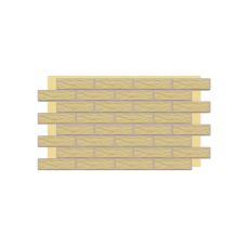 Термопанель фасадная с клинкерной плиткой Piaskowa/Sandy Rustic/структурная. Размер 890*610 мм
